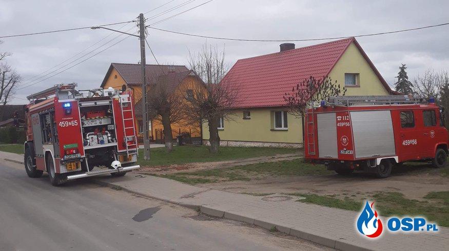 Pożar w Starym Objezierzu OSP Ochotnicza Straż Pożarna