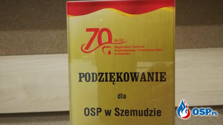 70-lecie Regionalnego centrum krwiodawstwa i krwiolecznictwa w Gdańsku OSP Ochotnicza Straż Pożarna