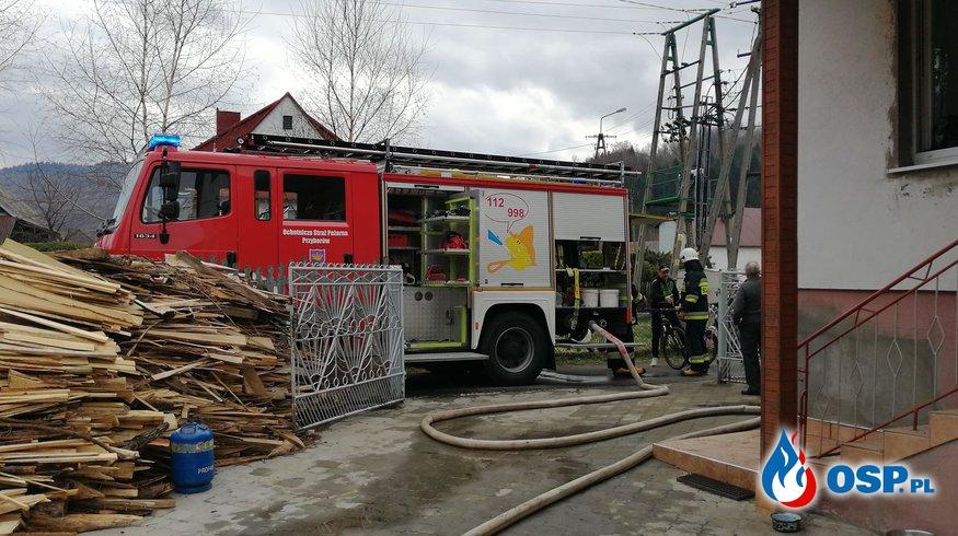 Pożar kotłowni w budynku jednorodzinnym. OSP Ochotnicza Straż Pożarna