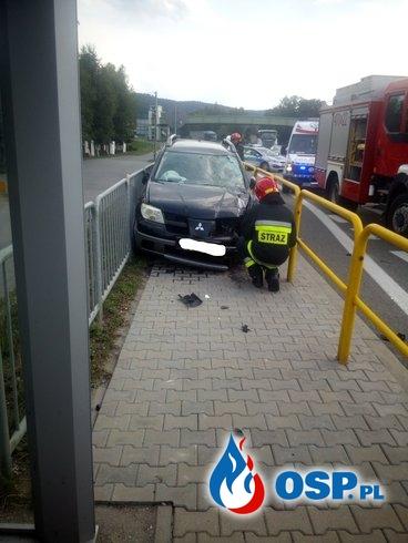 Wypadek samochodu osobowego na DK7 - 1 sierpnia 2019r. OSP Ochotnicza Straż Pożarna