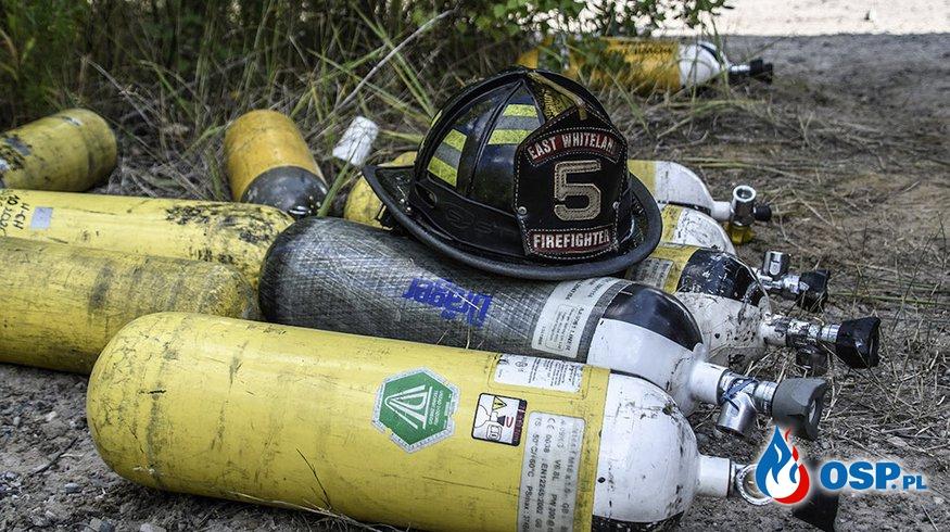 Amerykański hełm, jak talizman! Przynosi szczęście strażakom z OSP Grębocice. OSP Ochotnicza Straż Pożarna