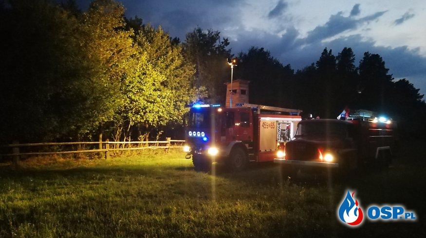 Pożar od uderzenia pioruna OSP Ochotnicza Straż Pożarna