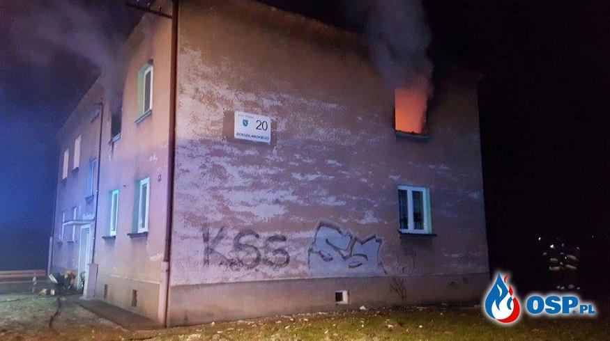 Pożar w budynku wielorodzinnym w Rybniku. Ewakuowano 14 osób! OSP Ochotnicza Straż Pożarna