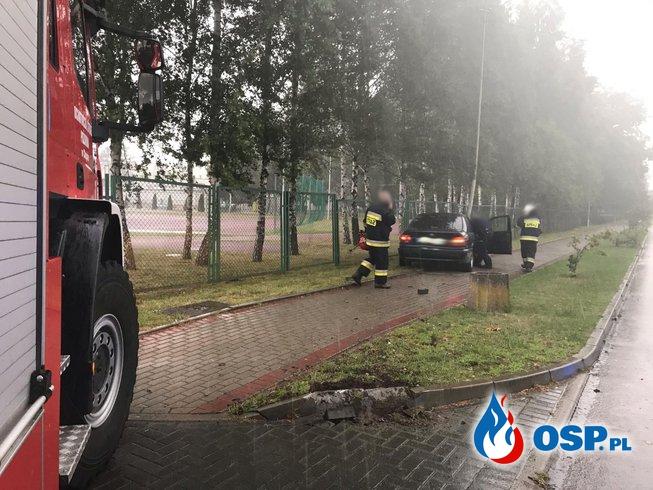 157/2020 Kolizja BWM ze słupem OSP Ochotnicza Straż Pożarna