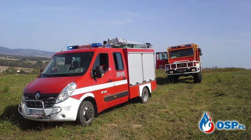 Duży pożar traw przy ulicy Śliwinki OSP Ochotnicza Straż Pożarna