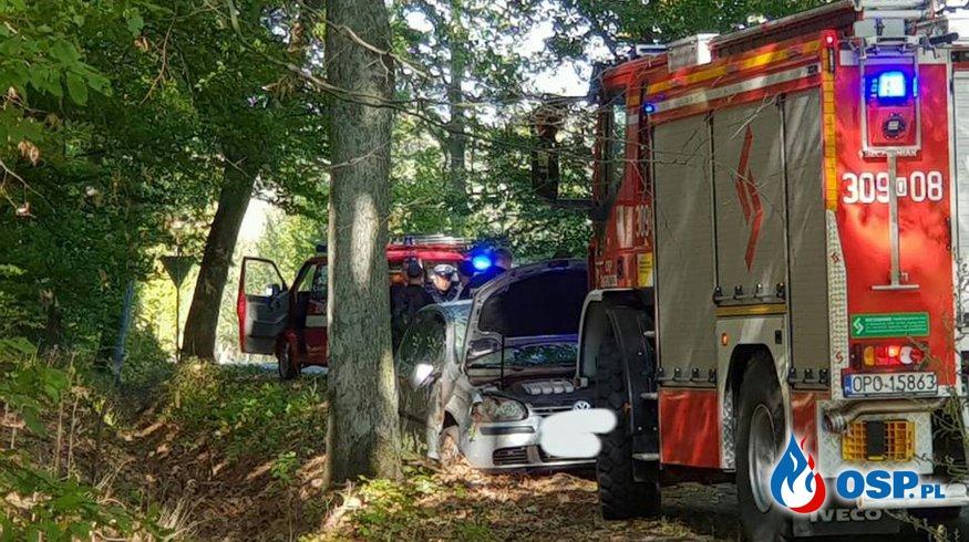 Wypadek samochodowy OSP Ochotnicza Straż Pożarna
