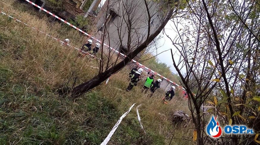 Katastrofa chemiczna i budowlana w gminie Bliżyn - Ćwiczenia OSP Ochotnicza Straż Pożarna