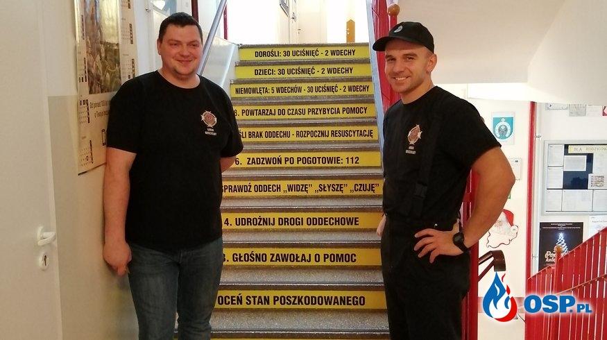 Pierwsza Pomoc w naszej szkole. OSP Ochotnicza Straż Pożarna