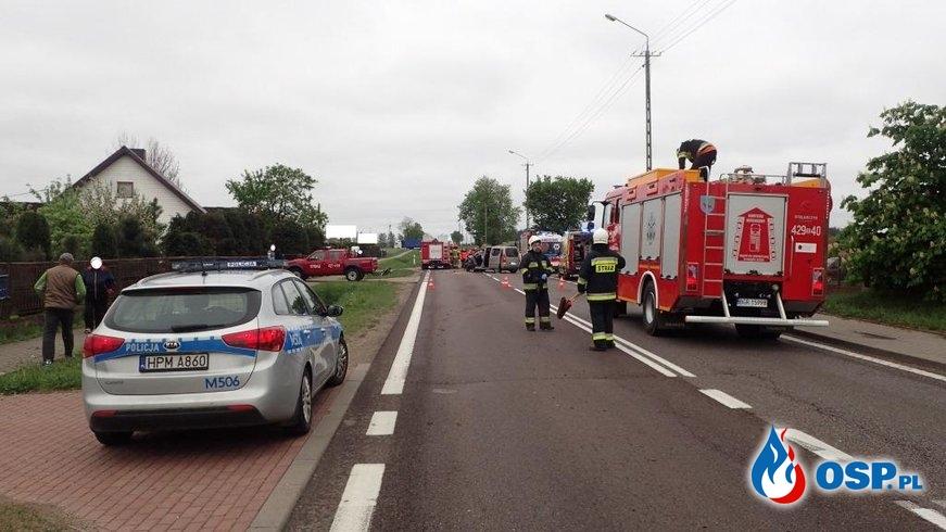 9 osób w szpitalu w wyniku wypadku dorgowego OSP Ochotnicza Straż Pożarna