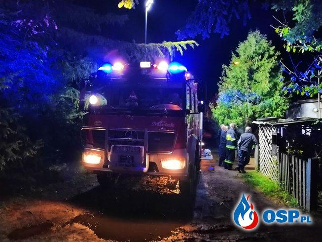 Pożar sadzy w kominie Mzdówko 28-10-2018 OSP Ochotnicza Straż Pożarna