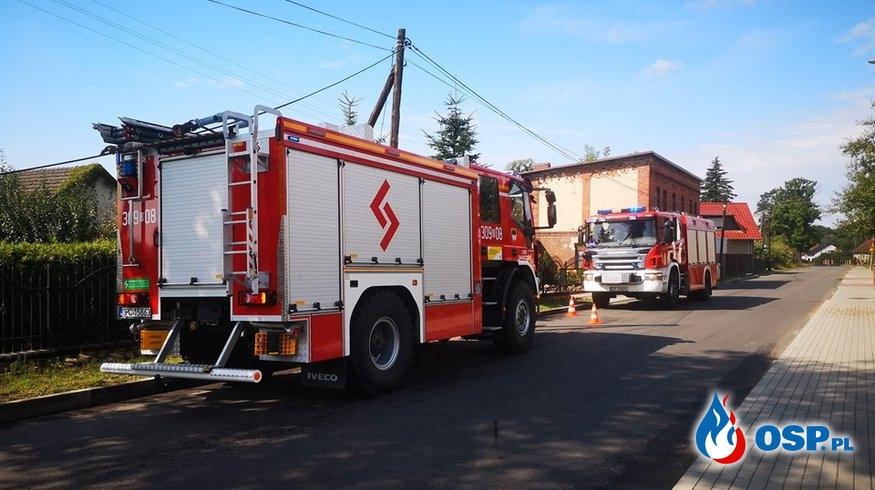 Zerwana linia telekomunikacyjna OSP Ochotnicza Straż Pożarna