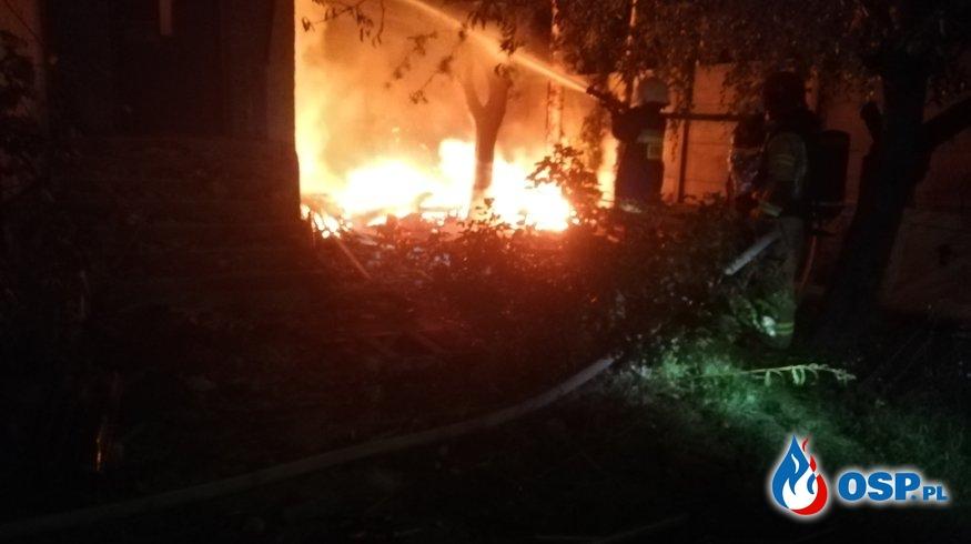 Pożar na posesji OSP Ochotnicza Straż Pożarna