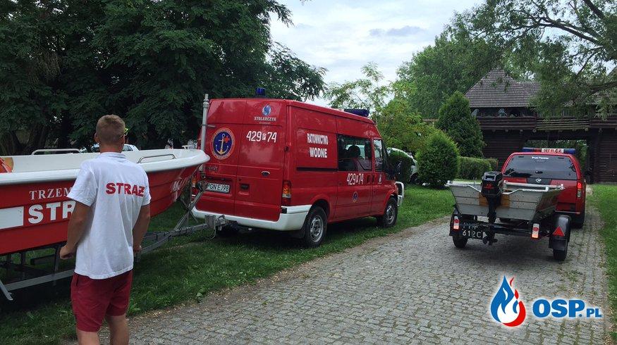 Zebezpieczenie zawodów pływackich o błękitną wstęgę Ostrowa Lednickiego OSP Ochotnicza Straż Pożarna