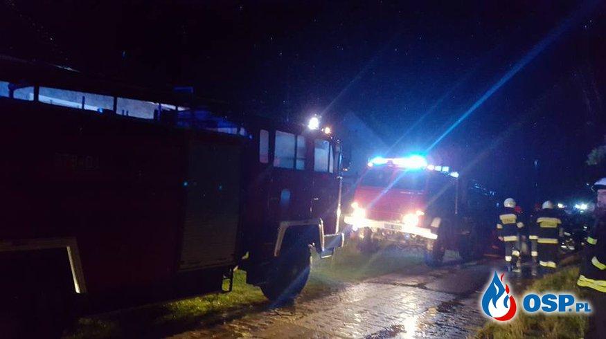 Piorun uderzył  w budynek mieszkalny  OSP Ochotnicza Straż Pożarna