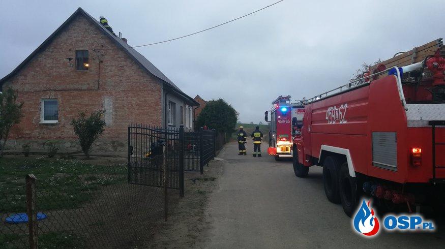 Pożar w Klępiczu OSP Ochotnicza Straż Pożarna