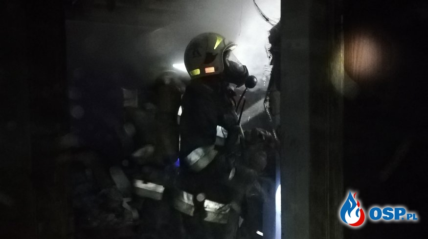 Pożar mieszkania - Bytnica 17.01.2019 OSP Ochotnicza Straż Pożarna