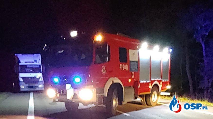 Śmiertelne potrącenie na DK7 OSP Ochotnicza Straż Pożarna