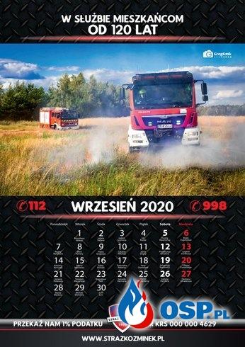 Kalendarz STRAŻ KOŹMINEK 2020 OSP Ochotnicza Straż Pożarna