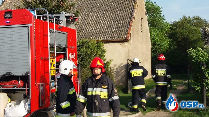 30.04.18 6:35 - POŻAR ZABUDOWAŃ GOSPODARCZYCH, LUDZISKO OSP Ochotnicza Straż Pożarna
