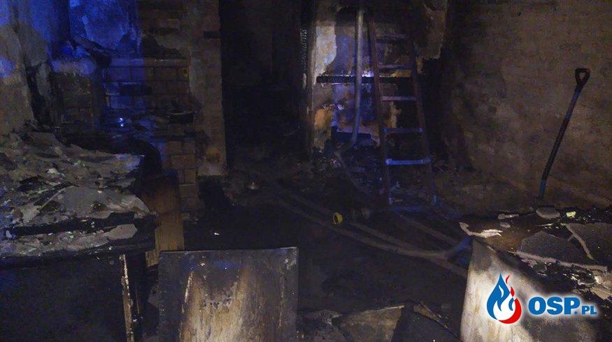 Mężczyzna zginął w pożarze budynku socjalnego OSP Ochotnicza Straż Pożarna