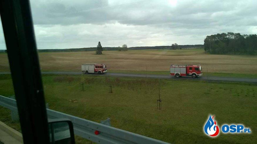 Ćwiczenia doszkalające Autostrada A2 OSP Ochotnicza Straż Pożarna