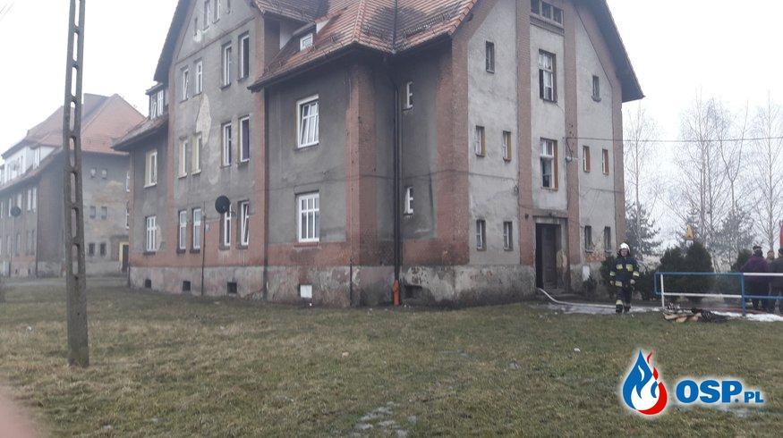 Pożar mieszkania. OSP Ochotnicza Straż Pożarna
