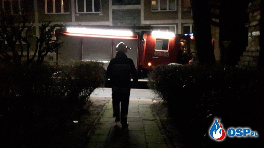 Pożar komina i balotu słomy OSP Ochotnicza Straż Pożarna
