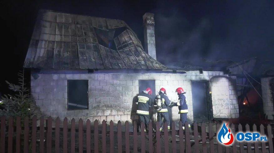 """""""Wskoczyłem oknem, ale wybuchł ogień"""". Dwie kobiety zginęły w pożarze domu. OSP Ochotnicza Straż Pożarna"""