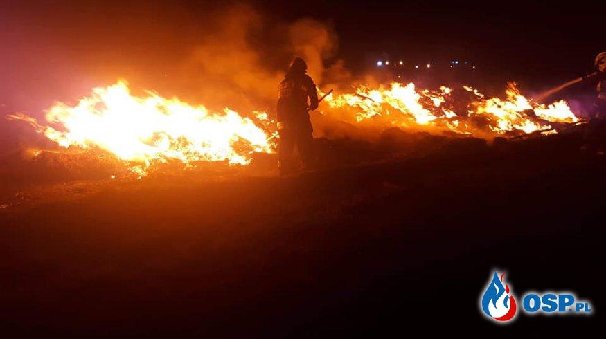 Pożar stogu i ładowarki OSP Ochotnicza Straż Pożarna