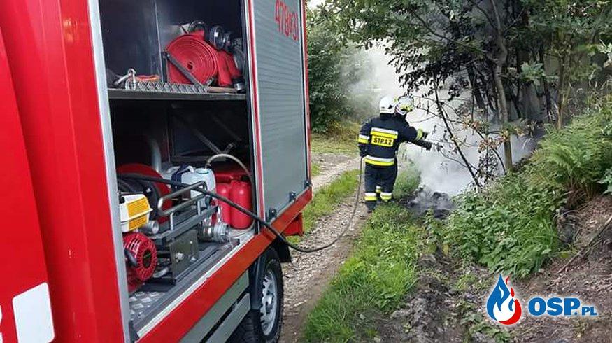Pożar śmieci w Biertowicach. OSP Ochotnicza Straż Pożarna