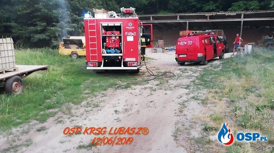 Pożar kompresora OSP Ochotnicza Straż Pożarna