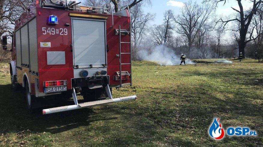 Kolejny pożar trawy w tym miesiącu! OSP Ochotnicza Straż Pożarna
