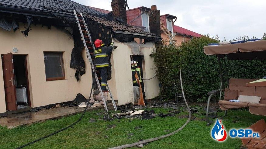 Pożar kotłowni w Cerkwicy OSP Ochotnicza Straż Pożarna