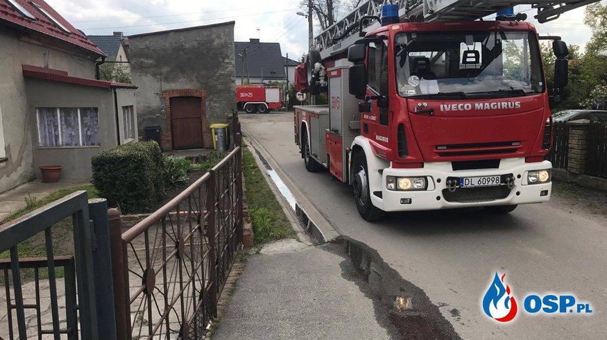 Pożar pomieszczenia gospodarczego OSP Ochotnicza Straż Pożarna