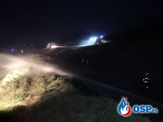 Pożar dzikiego wysypiska w Wasiłowicach oraz nasypów kolejowych w Białej OSP Ochotnicza Straż Pożarna