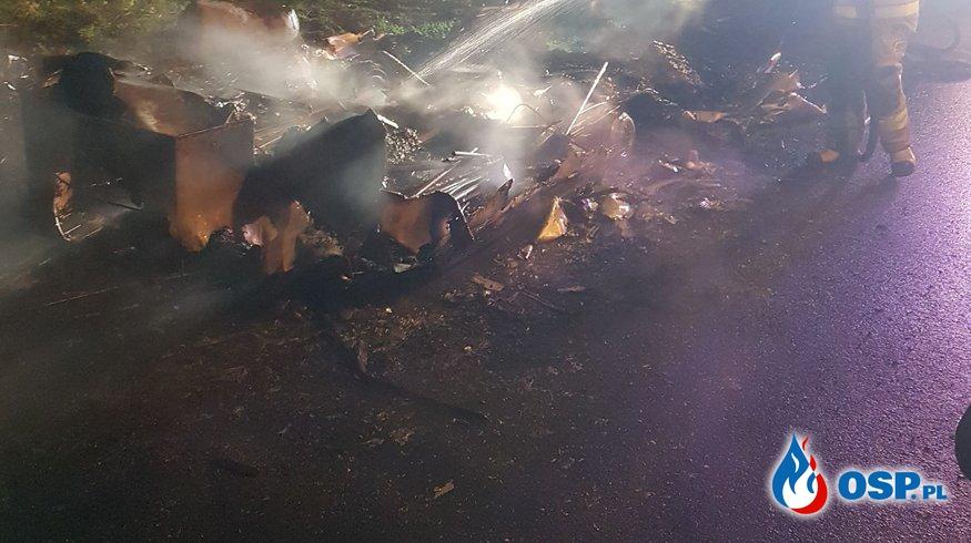 Pożar przyczepy kempingowej OSP Ochotnicza Straż Pożarna
