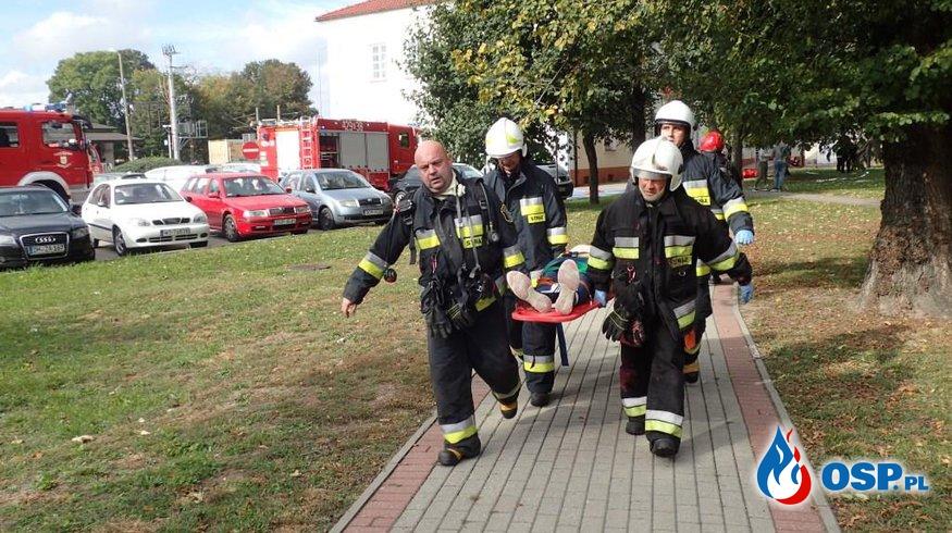 Pożar w Starostwie Powiatowym OSP Ochotnicza Straż Pożarna