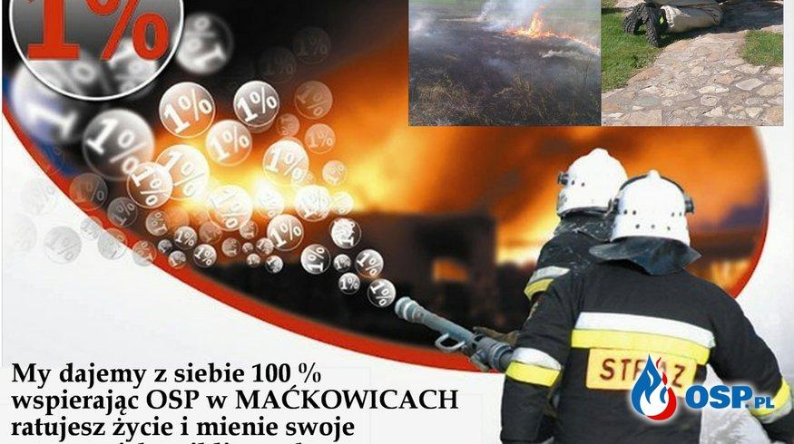 Przekaż 1 % na OSP MAĆKOWICE OSP Ochotnicza Straż Pożarna