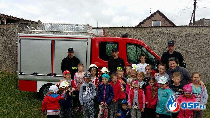 Dzień Dziecka w przedszkolu i szkole podstawowej OSP Ochotnicza Straż Pożarna
