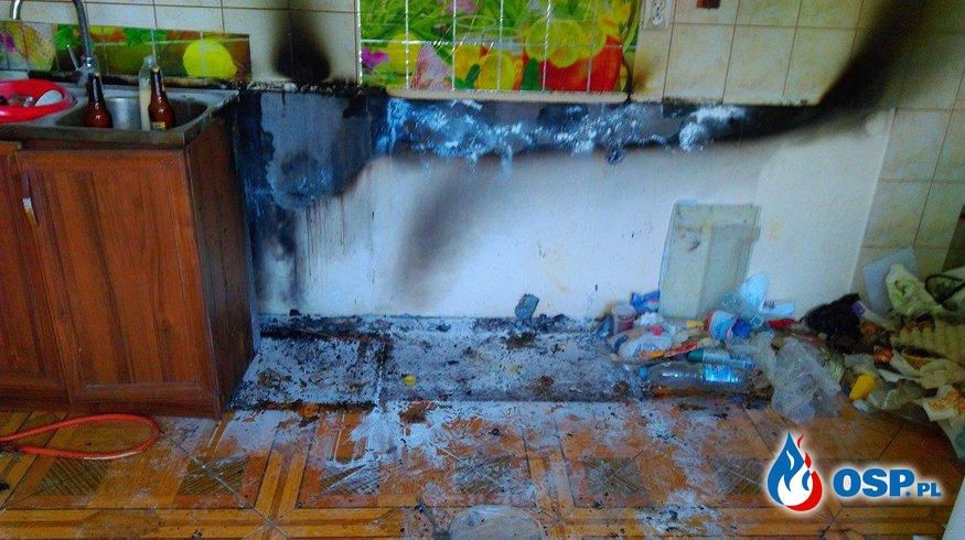 Nieprowice: Pożar kuchni 12.07.2017 OSP Ochotnicza Straż Pożarna