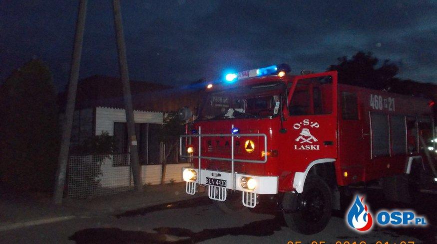 Pożar budynku OSP Ochotnicza Straż Pożarna