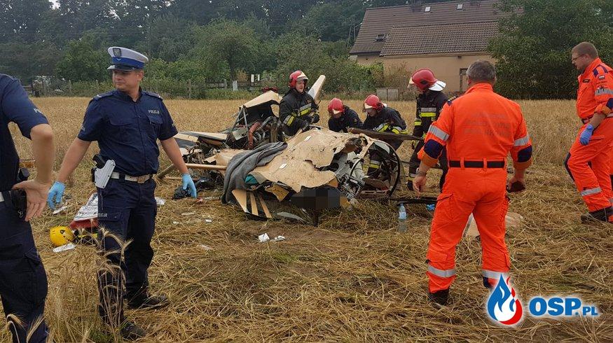 Wypadek helikoptera pod Opolem. Nowe informacje [WIDEO] [FOTO] OSP Ochotnicza Straż Pożarna