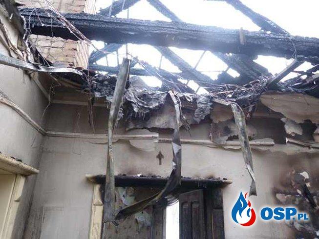 Pożar budynku mieszkalnego - Pożarowo OSP Ochotnicza Straż Pożarna