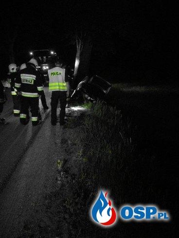 Wypadek drogowy DW 601 Prusinowo- Babięta OSP Ochotnicza Straż Pożarna