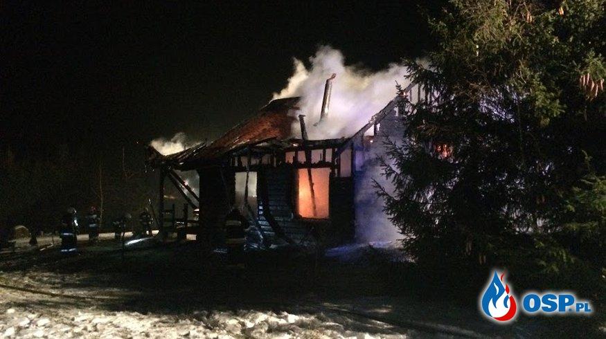 Pożar domku w Rajgrodzie OSP Ochotnicza Straż Pożarna