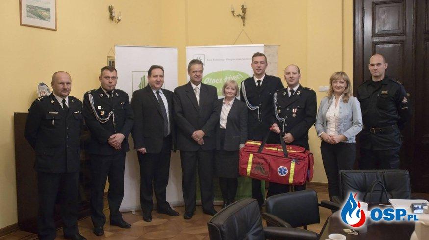 Pozyskanie torby medycznej z KRUS OSP Ochotnicza Straż Pożarna