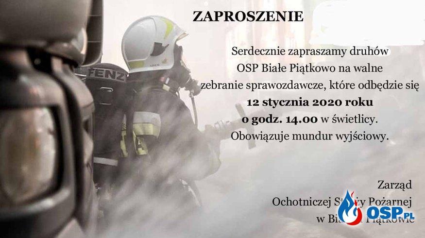 Rusza kampania sprawozdawcza za 2019 rok OSP Ochotnicza Straż Pożarna