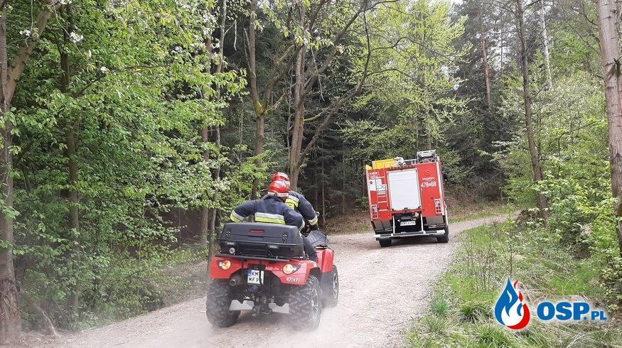 Pożar sterty gałęzi w lesie - 26 kwietnia 2020r. OSP Ochotnicza Straż Pożarna