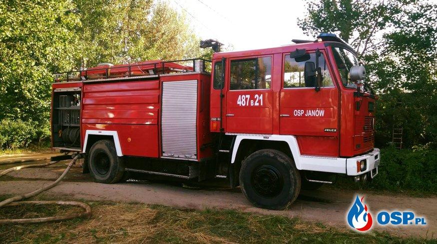 Pożar domu w Nowince OSP Ochotnicza Straż Pożarna