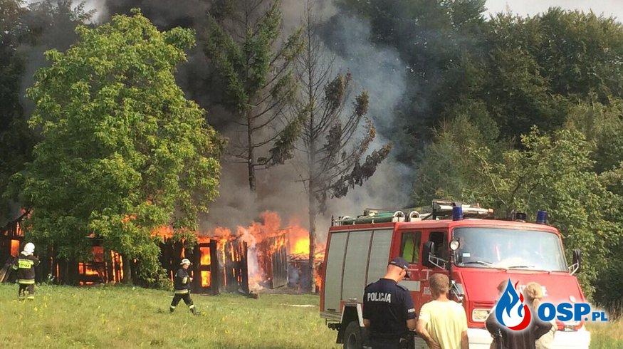 Pożar w Jodłówce Tuchowskiej - kilkanaście zastępów w akcji OSP Ochotnicza Straż Pożarna
